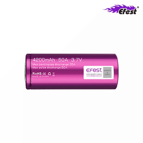Efest Purple IMR26650 mit 4200mAh, 3,7V, Li-Ion-Akku (High Drain)