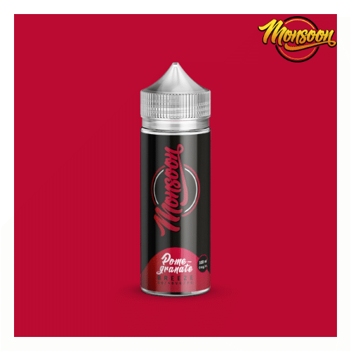 Pomegranate Breeze - Monsoon Liquid - 0mg 100ml Shortfill